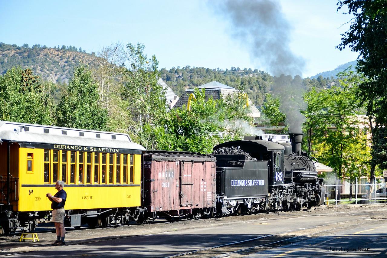Durango & Silverton Narrow Gauge Railroad, Colorado - getting ready to board