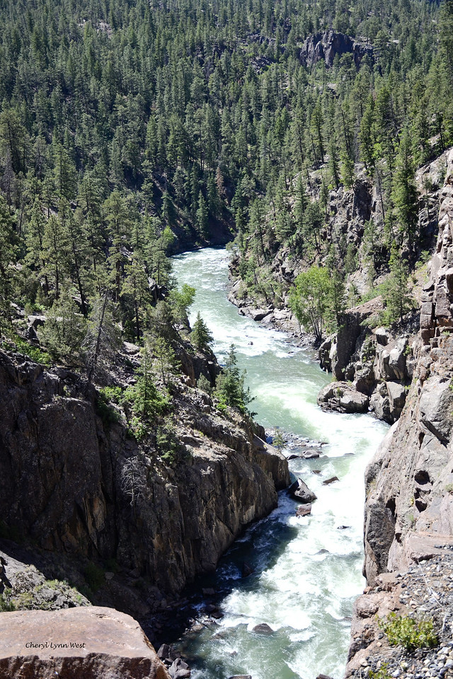 Durango & Silverton Narrow Gauge Railroad, Colorado - View of Animas River