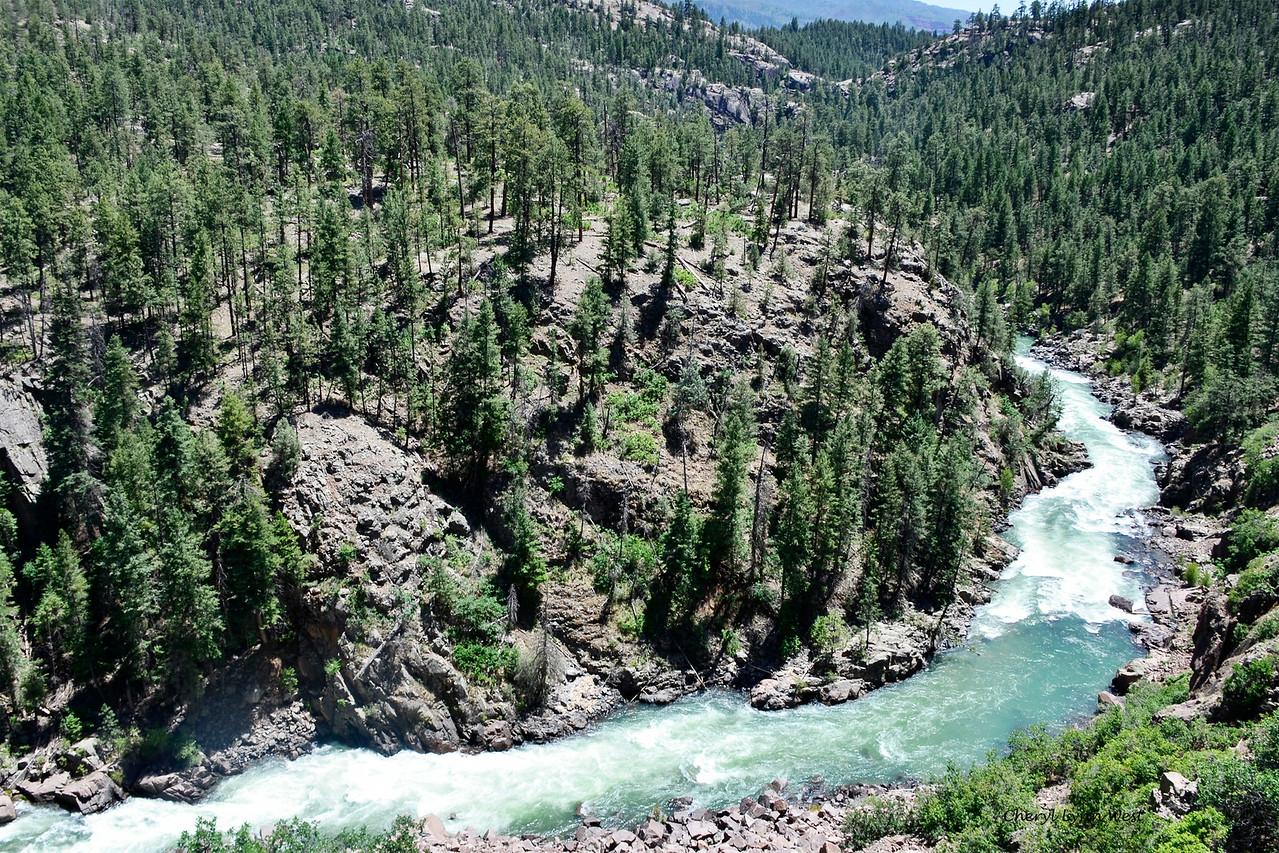 Durango & Silverton Narrow Gauge Railroad, Colorado - Animas River through the San Juan National Forest
