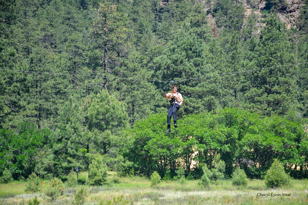 Durango & Silverton Narrow Gauge Railroad, Colorado - Zipline rider