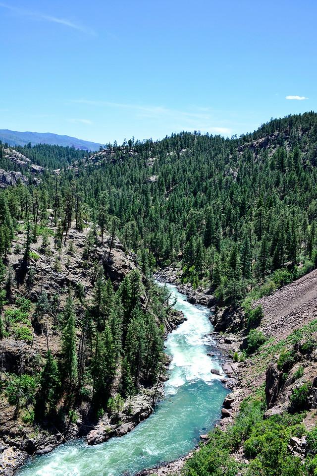 Durango & Silverton Narrow Gauge Railroad, Colorado - Animas River