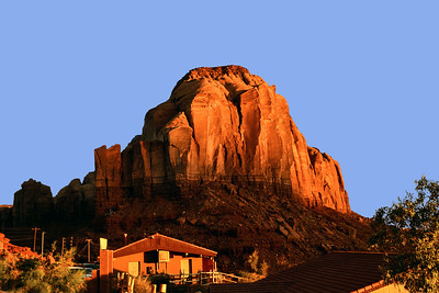 Goulding Lodge, Utah - you can see Monument Valley, Arizona from the motel balcony - This is a rock formation at the lodge