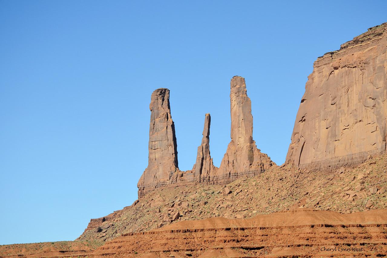Three Sister, Monument Valley, Arizona