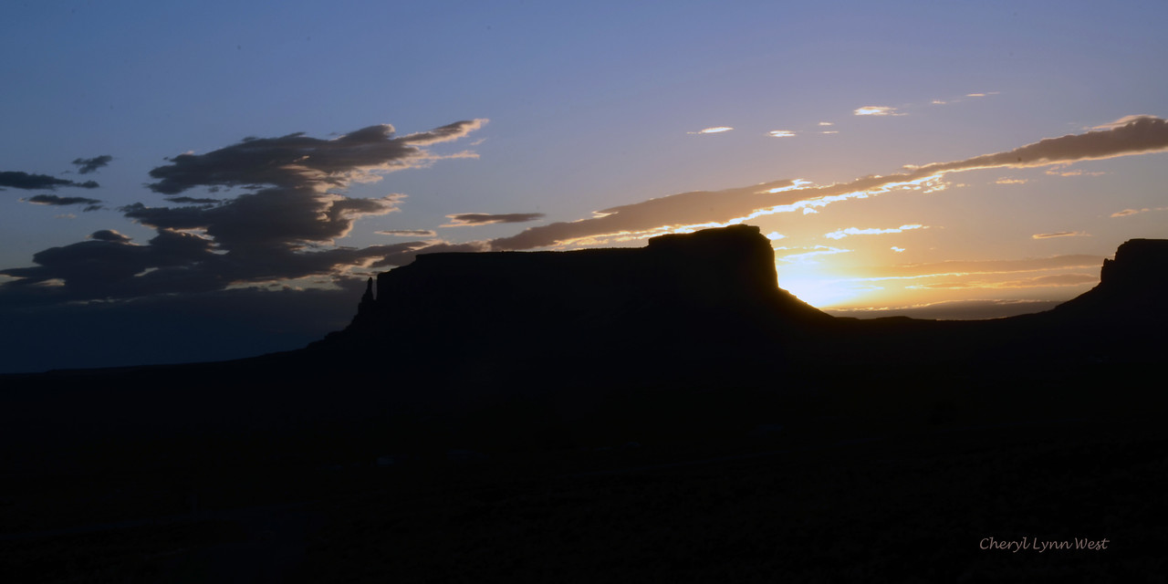 Monument Valley, Arizona - Sunrise in the morning - view from Goulding Lodge in Utah