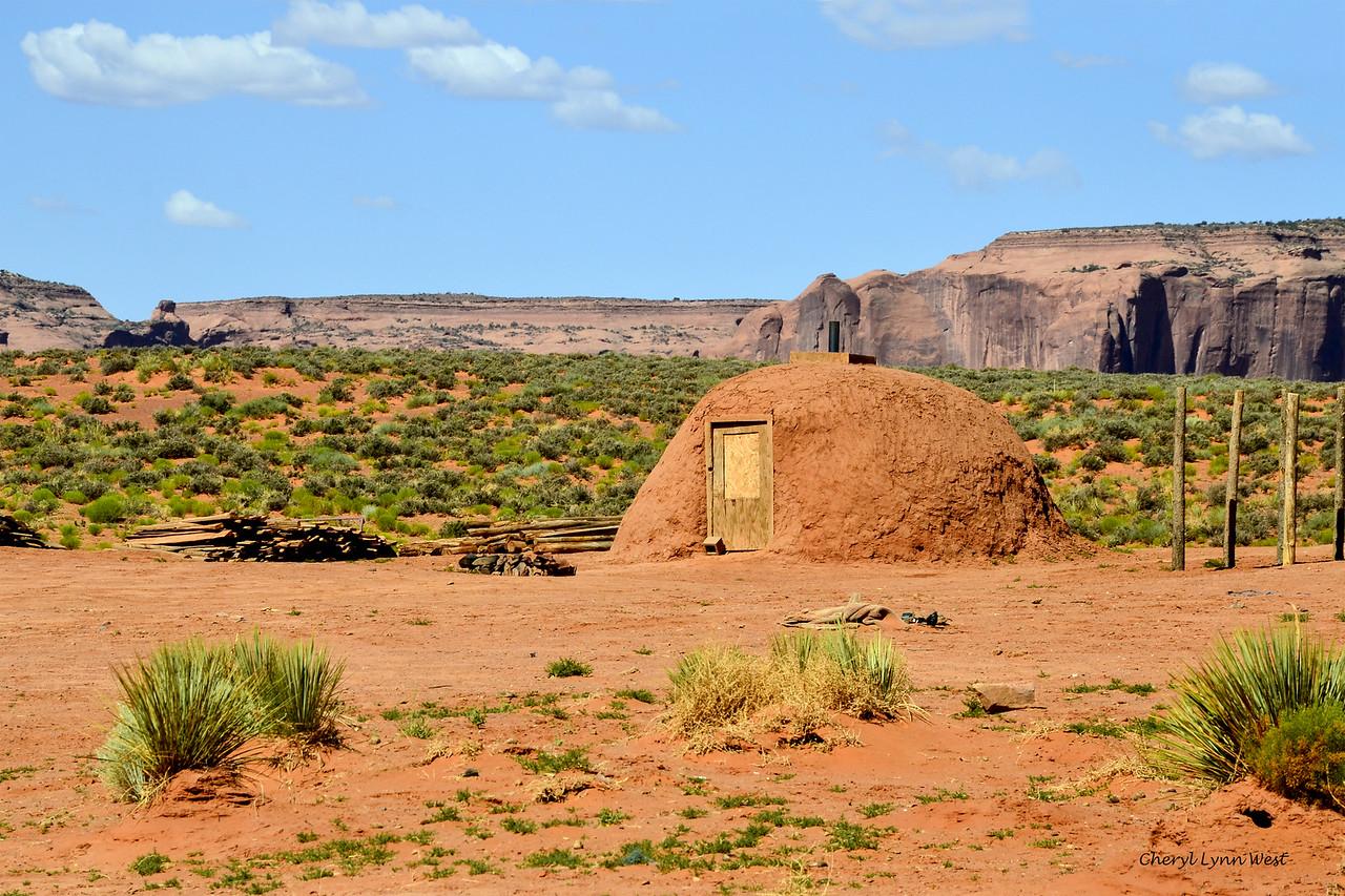 Hogan near John Ford's Point, Monument Valley, Arizona