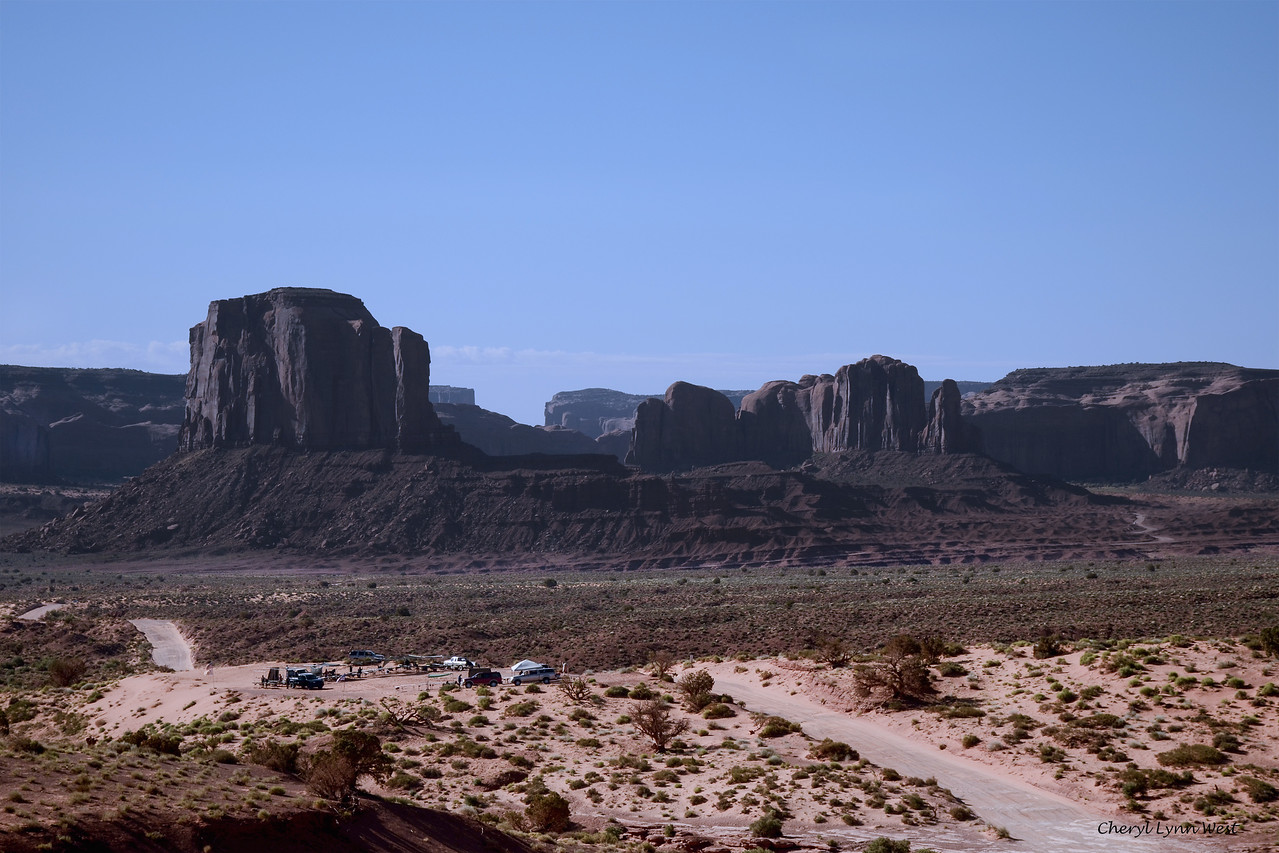 View of Monument Valley, from Goulding Lodge, Utah