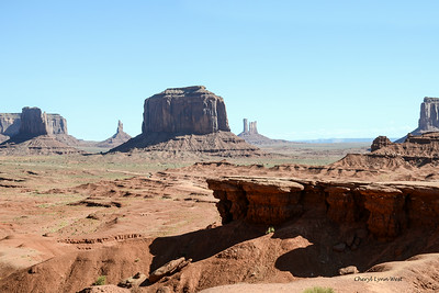 Merrick Butte, in background with John Ford's Point in front, Monument Valley, Arizona