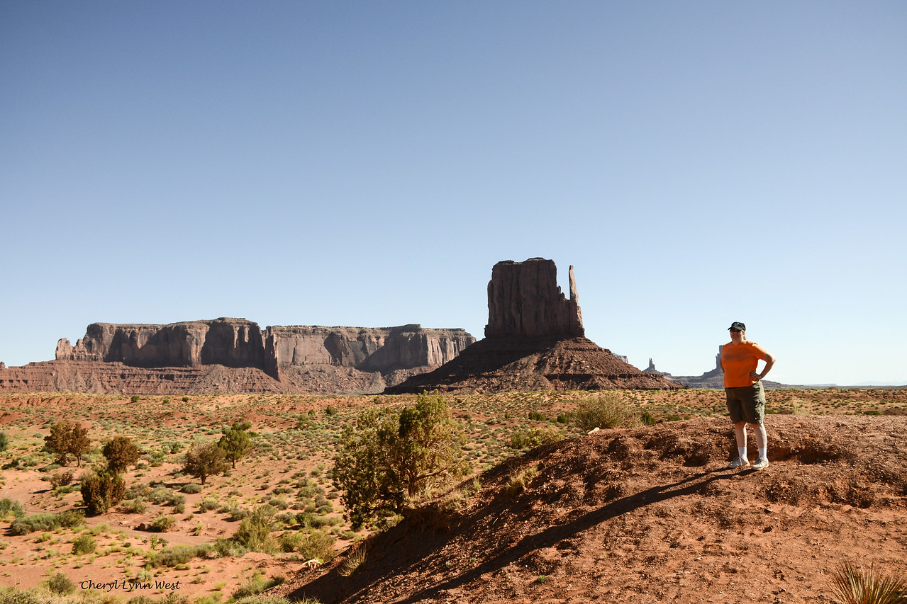 West Mitten, Monument Valley, Arizona - Cheryl posing