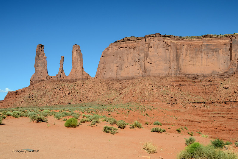 Three Sister, Monument Valley, Arizona