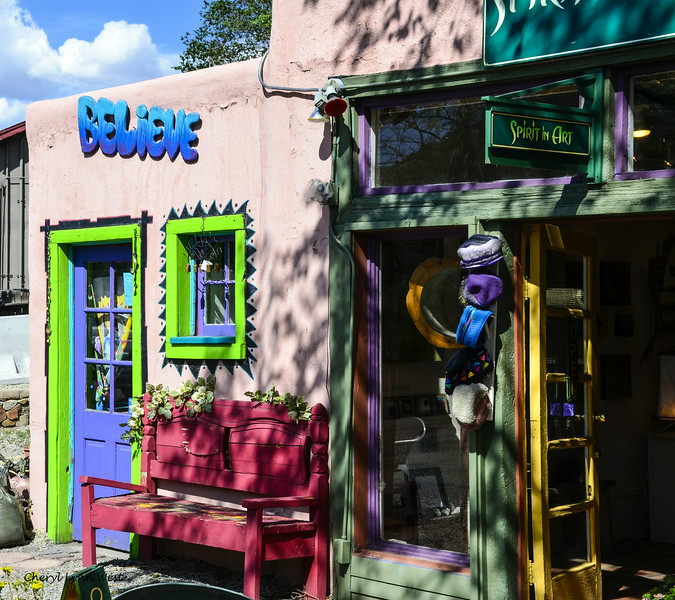 Madrid, New Mexico - Artists' galleries - The shop, Believe, does tarot readings.
