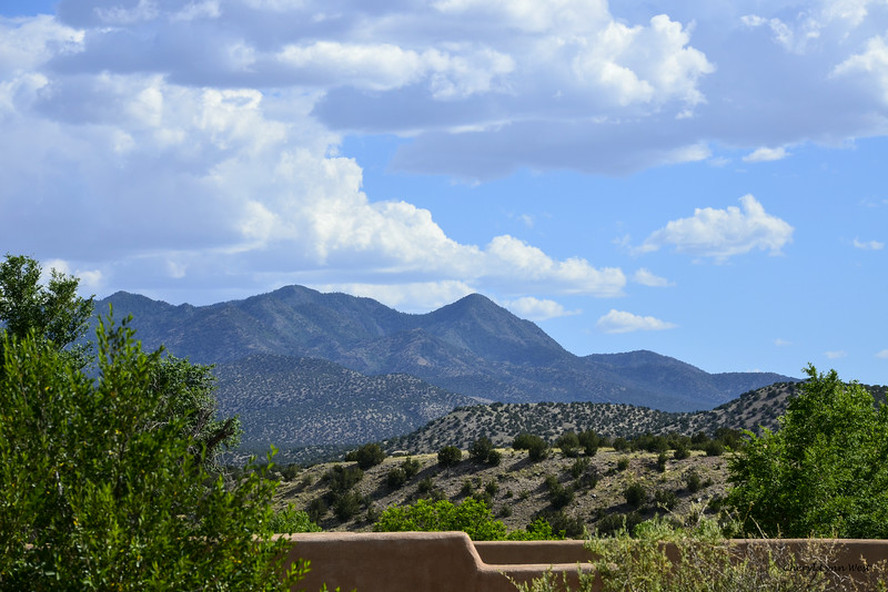 Cerrillos, New Mexico - View of the hills, where once prospectors mined for silver