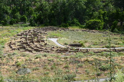 Bandelier National Monument, Los Alamos, New Mexico - Remains of buildings