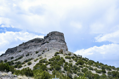 Scenery on the drive to Bandelier National Monument, Los Alamos, New Mexico