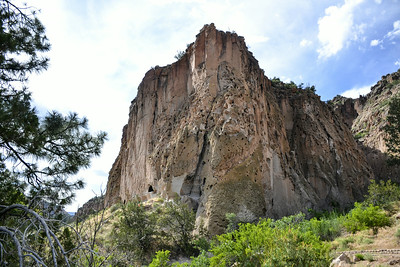 Bandelier National Monument, Los Alamos, New Mexico - walking trail near ruins and cliff dwellings