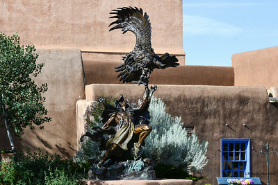 Santa Fe, New Mexico - one of the many bronze statues around town