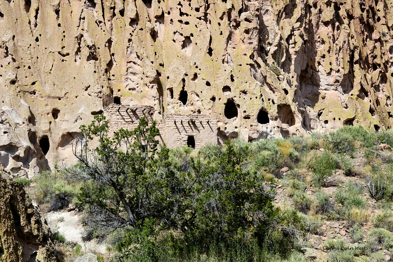 Bandelier National Monument, Los Alamos, New Mexico - Remains of homes and cliff dwellings