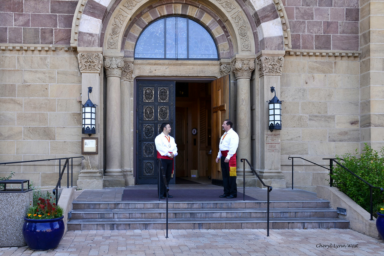 Santa Fe, New Mexico - Ushers for an ordination ceremony at the Cathedral Basilica of St. Francis of Assisi