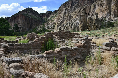 Bandelier National Monument, Los Alamos, New Mexico - Remains of homes