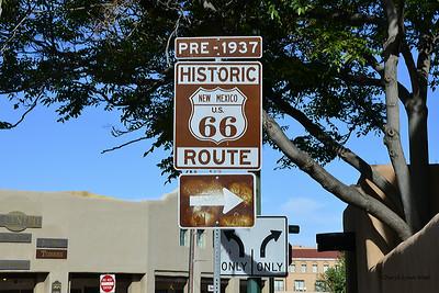 Santa Fe, New Mexico - Route 66 goes through town