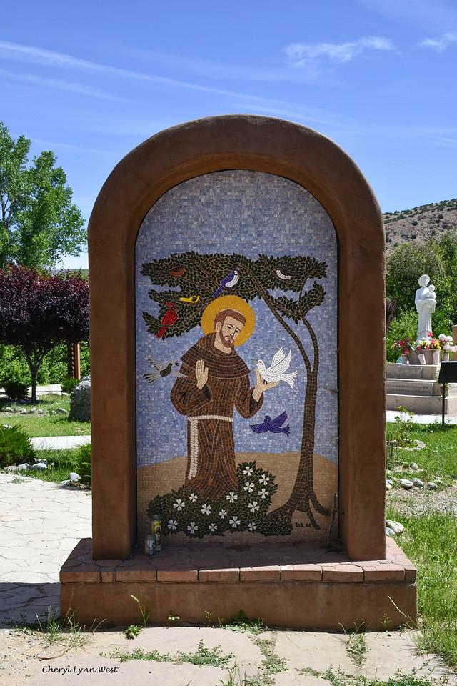 El Santuario de Chimayó, New Mexico - Mosaic shrine to St Francis of Assisi
