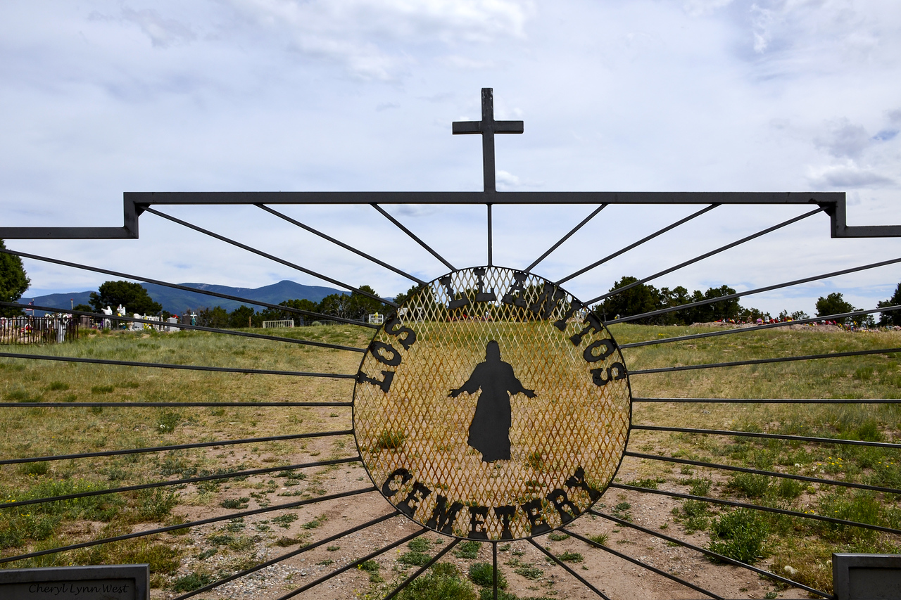 Los Llanitos Cemetery - on the road to Taos, New Mexico