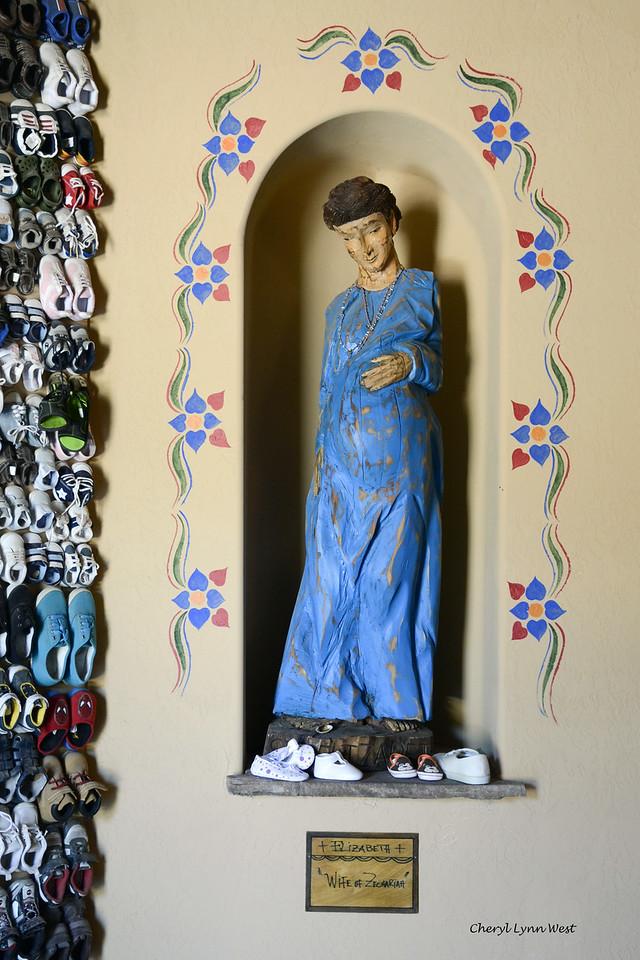 El Santuario de Chimayó, New Mexico - Pregnant Saint Elizabeth, mother of John the Baptist in the Santo Niño Chapel