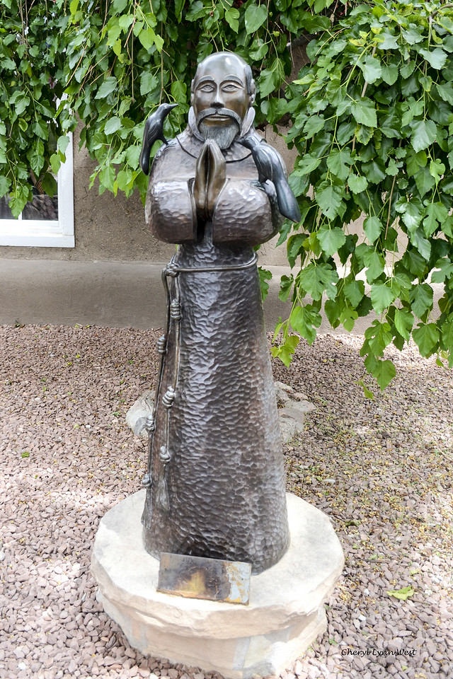 Rancho de Chimayo Restaurant, New Mexico - Statue of St. Francis of Assisi