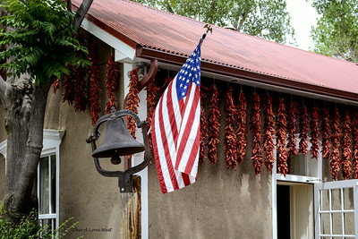 Rancho de Chimayo Restaurant, New Mexico - Red chili peppers are used in decorations almost everywhere in New Mexico