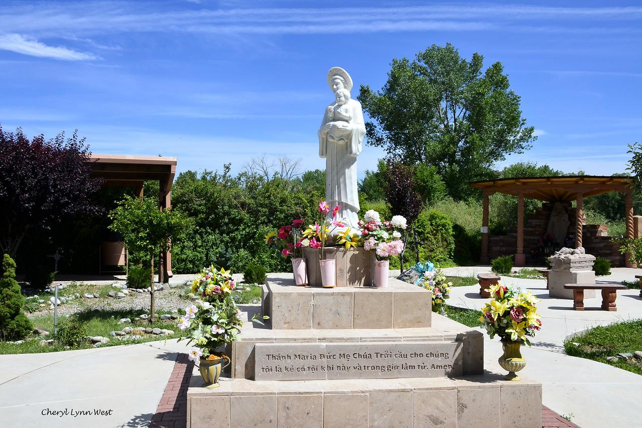 El Santuario de Chimayó, New Mexico - Vietnamese statue of Virgin Mary and baby Jesus