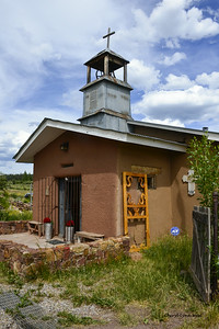 Truchas, New Mexico -  an artist community, located on the High Road to Taos, 8000 feet above sea level.  Robert Redford filmed The Milagro Beanfield War (1988) here.