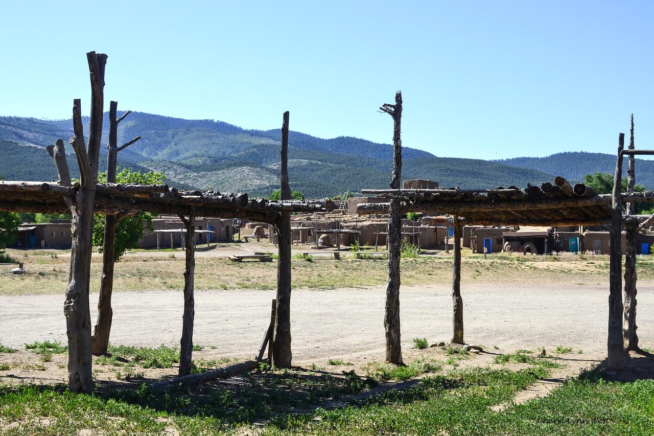 Taos Pueblo, New Mexico - Drying racks