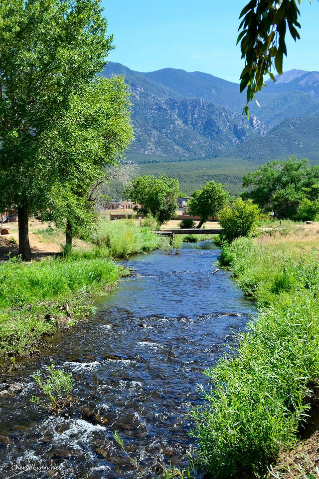 Taos Pueblo, New Mexico - stream flowing through the village