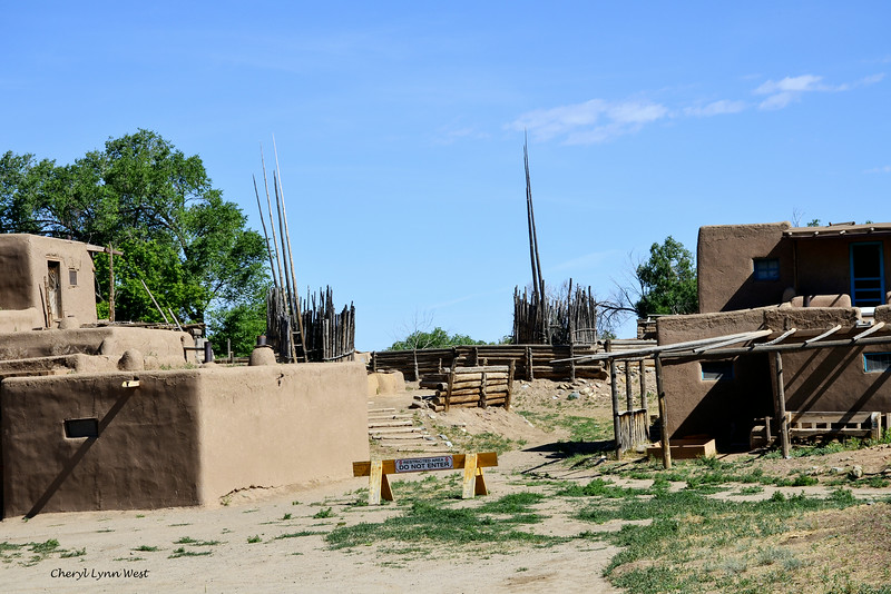 Taos Pueblo, New Mexico - Sacred kiva for religious ceremonies