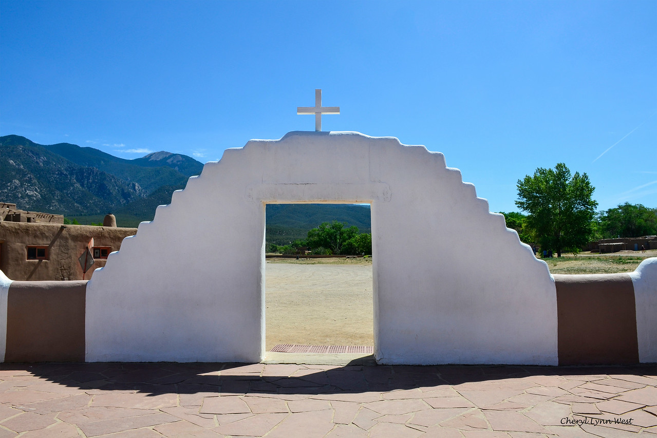 Taos Pueblo, New Mexico - Entrance at the St. Jerome Church
