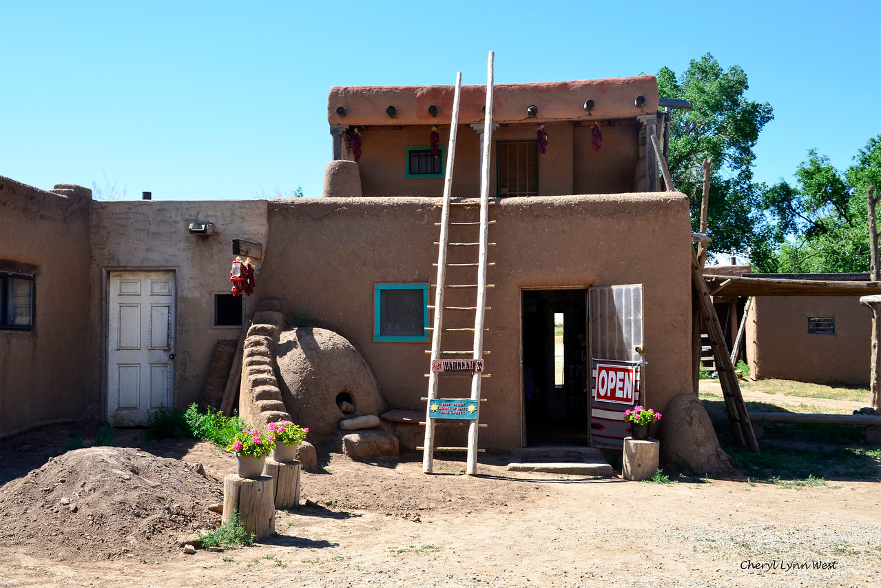 Taos Pueblo, New Mexico - Store and residence with horno