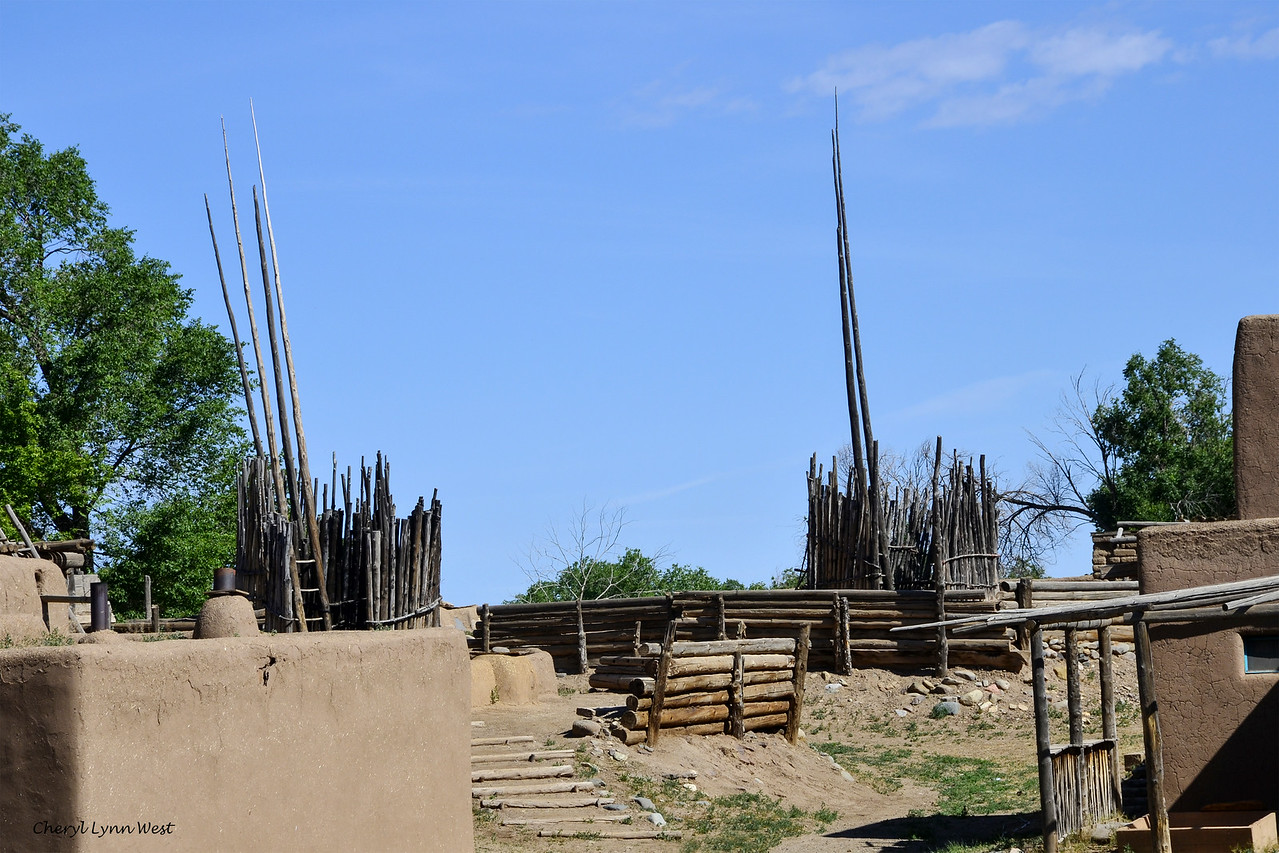Taos Pueblo, New Mexico - Sacred kiva for religious ceremonies