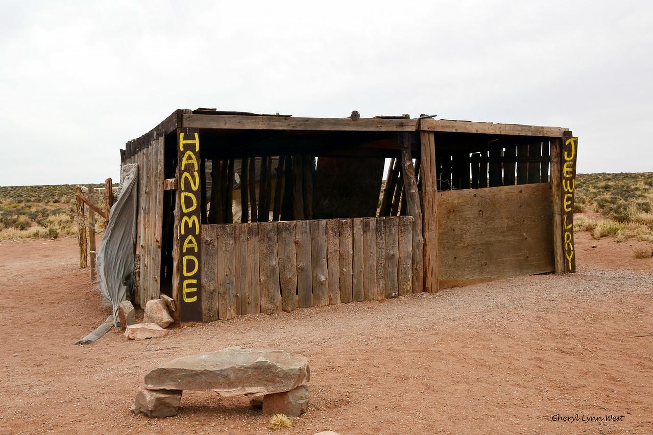 Utah countryside - Abandoned vendor's lean-to
