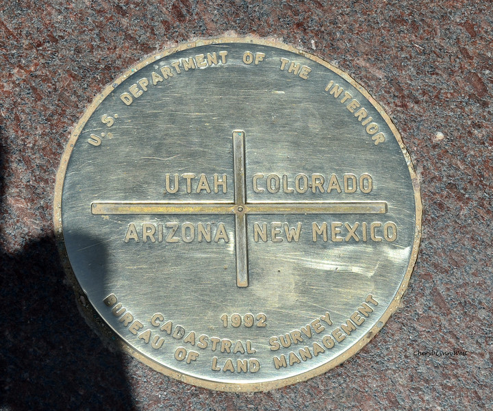 Four Corners - Marker where the four states, New Mexico, Colorado, Utah and Arizona meet