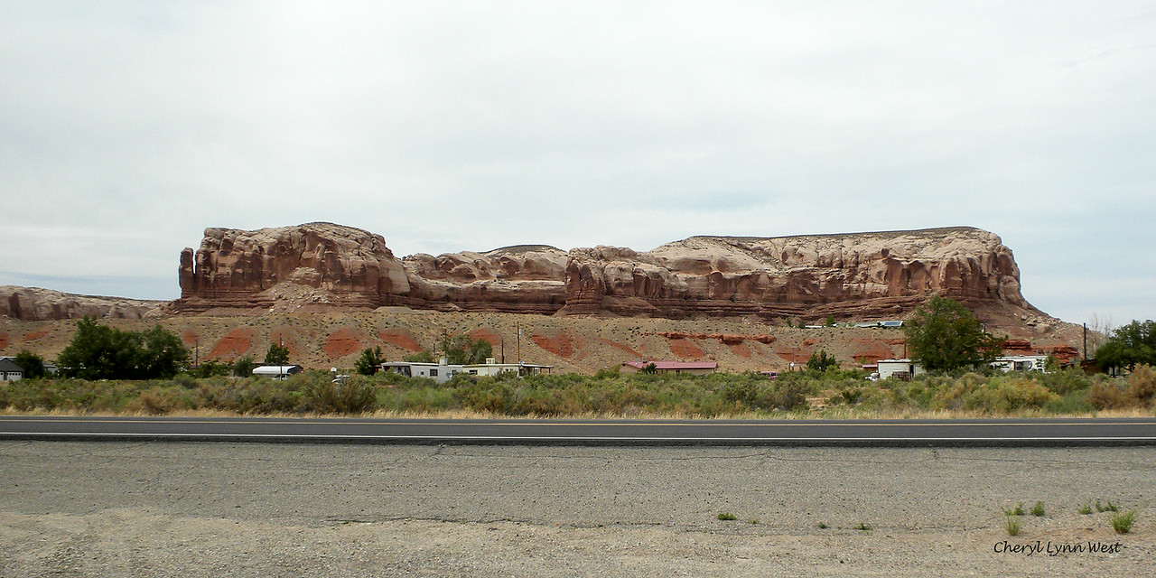 Bluff, Utah - Homes across from the cafe where we stopped for lunch