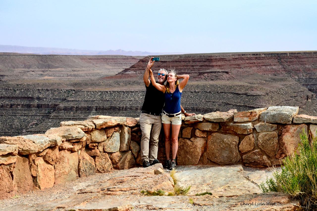 Peter and Betsy Scheyer, at Goosenecks State Park, Utah