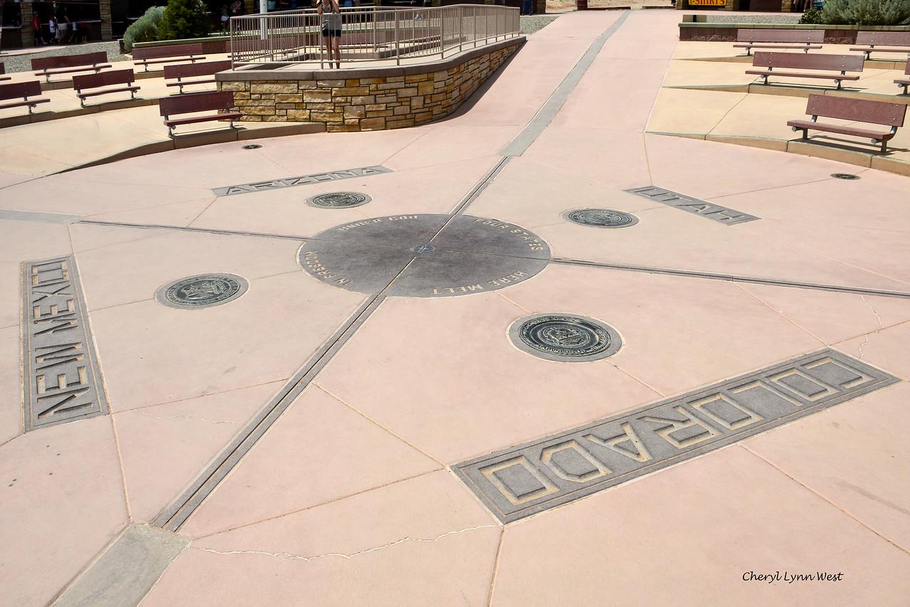 Four Corners - Marker where the four states, New Mexico, Colorado, Utah and Arizona meet