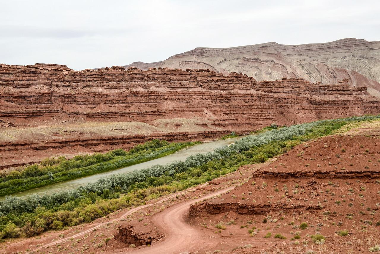 Utah countryside - San Juan River near the Mexican Hat