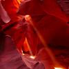 """Beam Me Up"".  Lower Antelope Slot Canyon, Page, AZ."