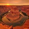 """""""Horseshoe Bend"""".  Sunset at Grand Canyon, Page, AZ"""