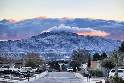 West El Paso, Franklin Mountains Snow Covered