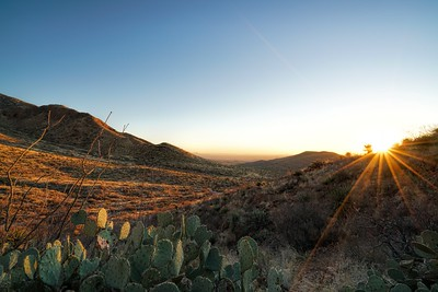 Texas Sunset at Franklin Mountains