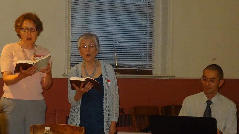 Japanese Christian Presbyterian Church lead us in worship.