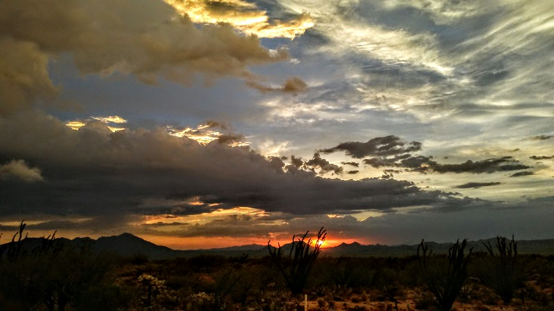 Sunsetting Over Altar Valley,Arizona