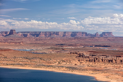 Glen Canyon National Recreational Area.  Lake Powell in foreground.  Near Page, AZ.