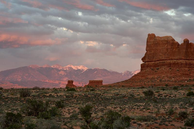 La Sal Mountain sunset
